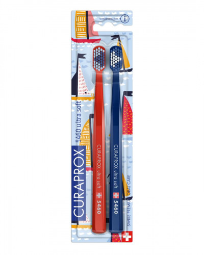 Toothbrush CS 5460 Sailing Edition Red & Navy, 2 pcs.